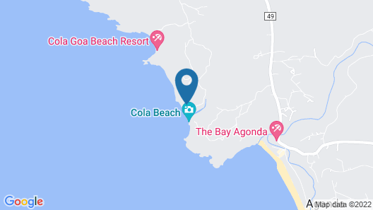 Blue Lagoon Sea Front cottages Map
