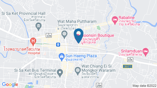 Gallery Design Hotel (Sisaket) Map