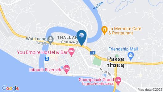 Champasak Palace Hotel Map