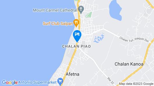 Chalan Kanoa Beach Hotel Map