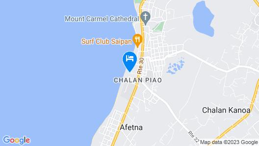 Saipan Beach Hotel Map