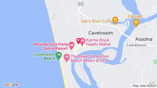 Radisson Blu Resort Goa Cavelossim Beach Map