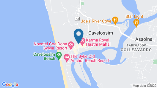 Radisson Blu Resort Goa Cavelossim Beach Map