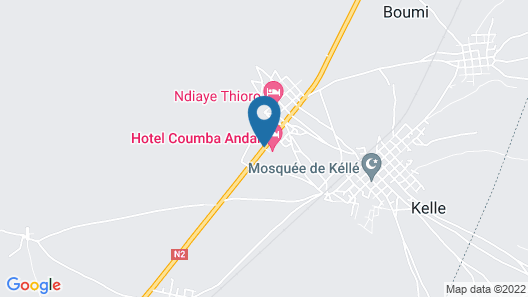 hotel residence coumba andal Map
