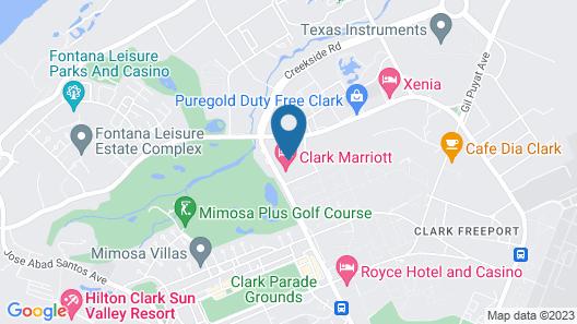 Clark Marriott Hotel Map