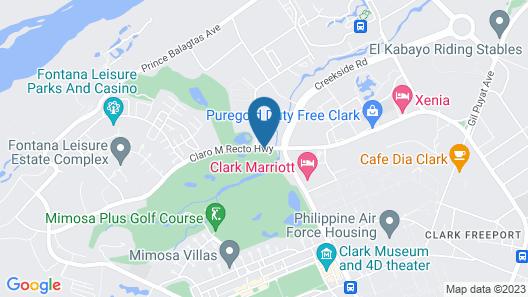 Midori Clark Hotel and Casino Map