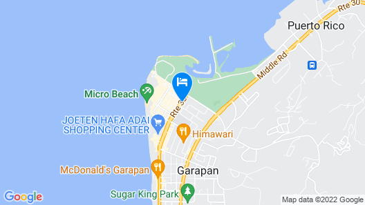 Star Sands Hotel Map