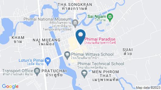 Phimai Paradise Hotel Map
