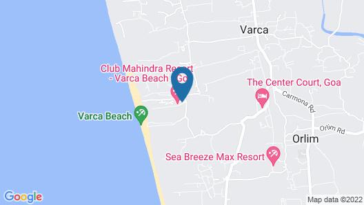 Club Mahindra Varca Beach, Goa Map