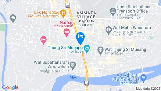 Yuu Hotel Ubon Ratchathani Map
