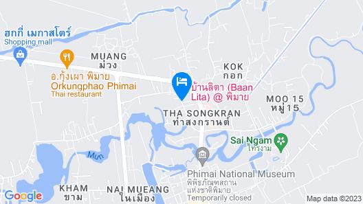 Baan Lita Phimai Map