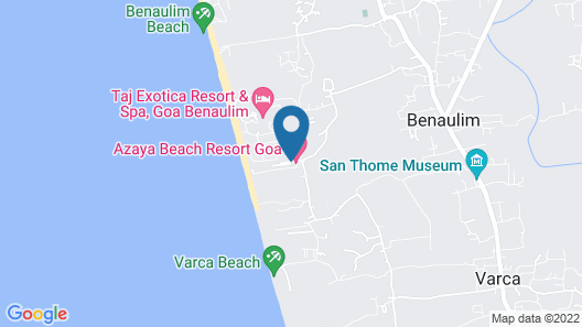 Azaya Beach Resort Map
