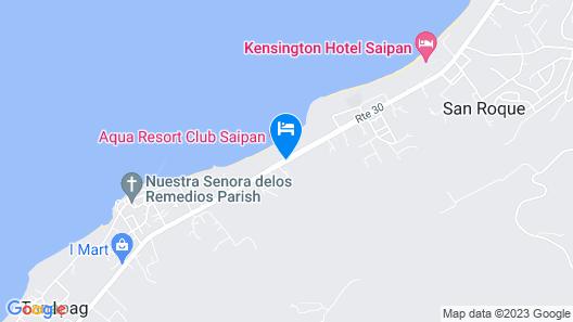 Aqua Resort Club Saipan Map