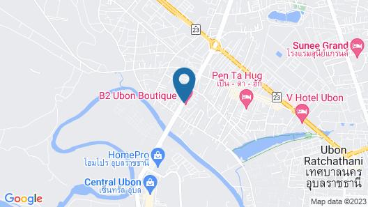 B2 Ubon Boutique & Budget Hotel Map