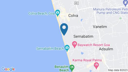 C'Roque Beach Resort Map
