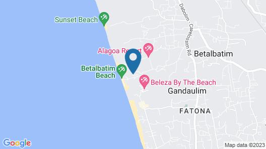 Villa Prabha in South Goa - Tranquil Beachside Villa With Pool Map