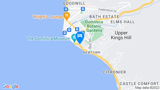 Fort Young Hotel Map