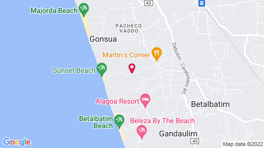 A's Holiday Beach Resort Map