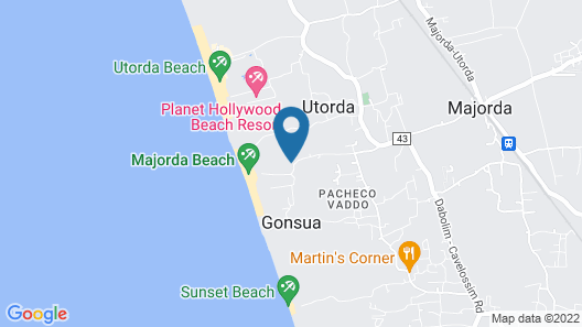 Majorda Beach Resort Map