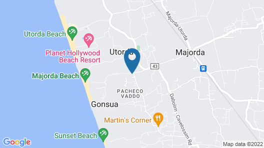 Homely JES Guest House GOA Map
