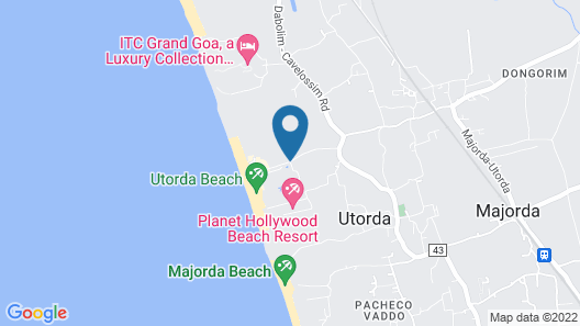 Royal Orchid Beach Resort & Spa Map