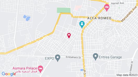 Hotel Asmara Palace Map