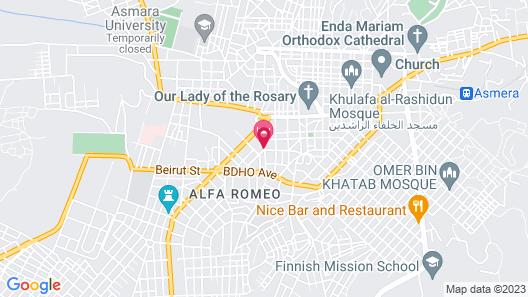 Crystal Hotel Asmara Map