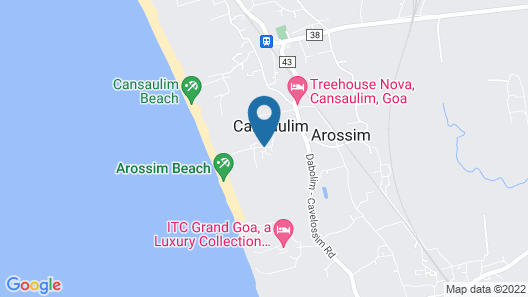 Heritage Village Resort & Spa Goa Map