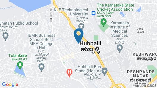 Kyriad Prestige Hubli Map