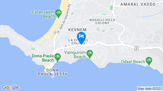 Taj Resort & Convention Centre, Goa Map