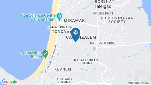 FabHotel Prazeres Boutique PanajI Map