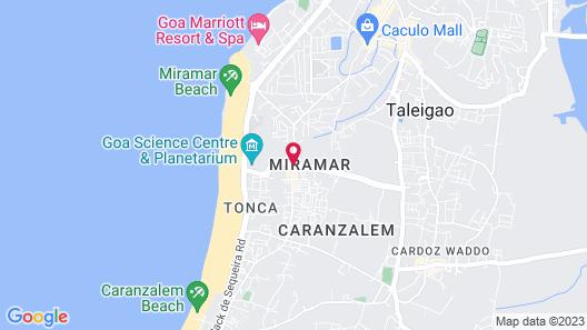 Hotel Miramar, Miramar Beach, Goa Map