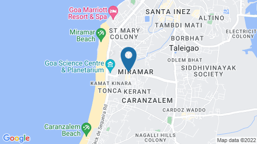 Hotel Miramar, Miramar Beach, Goa Map