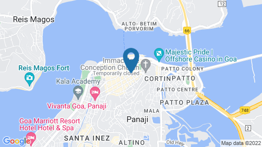 The Crown Goa Map