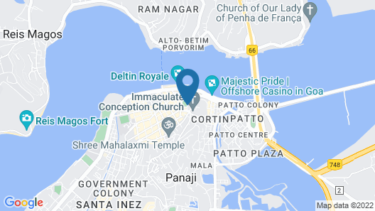 Hotel Manvin's Map