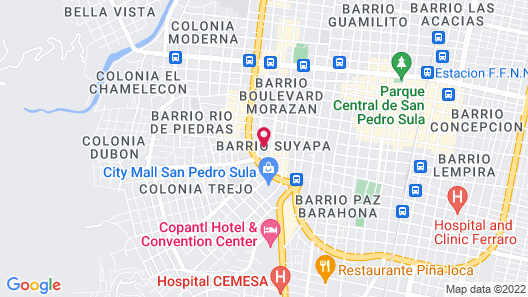 Hotel Las Cascadas Map
