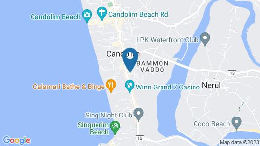 Radisson Goa Candolim Map