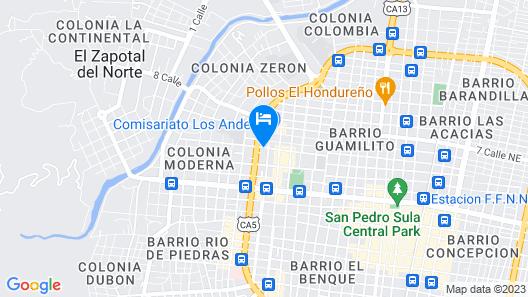 Hotel Maya Colonial Map