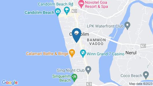 Whispering Palms Beach Resort Map