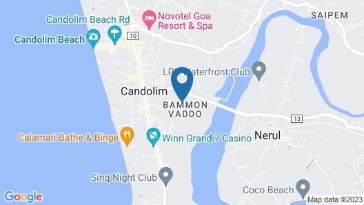 Golden Tulip Goa Candolim Map