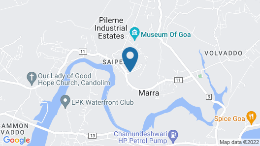 Hilton Goa Resort Map