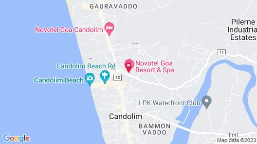 Novotel Goa Resort & Spa Hotel Map