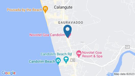 Novotel Goa Candolim Hotel Map