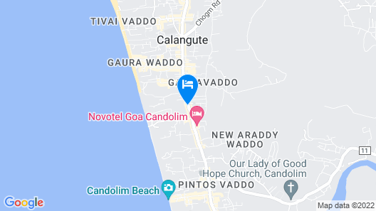 Hyatt Centric Candolim Goa Map
