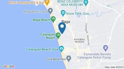 Estrela Do Mar Beach Resort - A Beach Property, Goa Map