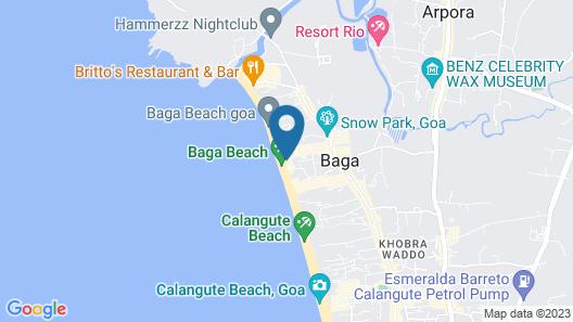 The Baga Beach Resort Map