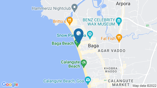 Arudra at Cisco's Beach Shack & Cottages Map