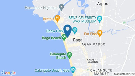 OYO 5651 StayOut near Baga Beach Map