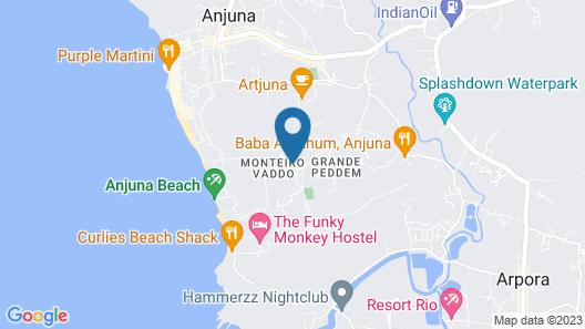 Dreams Palm Anjuna Map