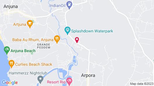 DoubleTree by Hilton Hotel Goa - Arpora - Baga Map